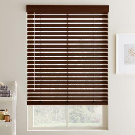 """2"""" Designer Faux Wood Blinds"""