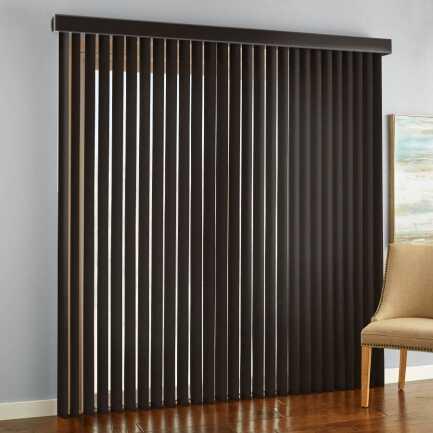 """3 1/2"""" Premium Faux Wood Vertical Blinds"""
