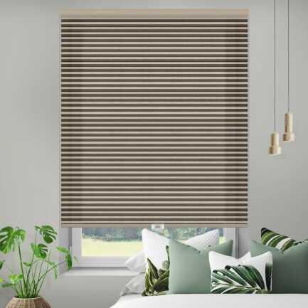 Designer Double Cell Light Filtering Honeycomb Shades