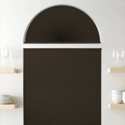 Double Cell Blackout Arch Window Shades