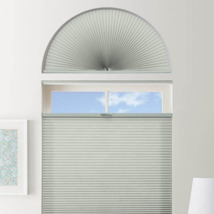 Double Cell Light Filtering Arch Window Shades 1280