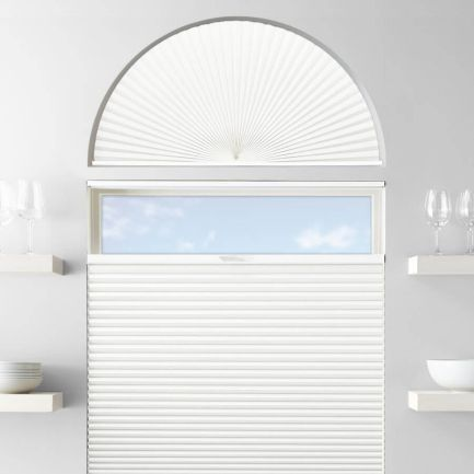 Single Cell Blackout Arch Window Shades 1278