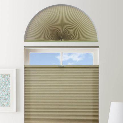 Stores cellulaires filtres de lumière à cellule double pour fenêtres en arche 1280