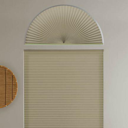 Stores cellulaires filtres de lumière à cellule simple pour fenêtres en arche 1277