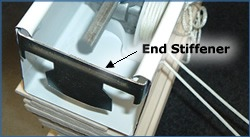 remove end stiffener from blind headrail