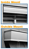 Mount Type - Inside or Outside Mount