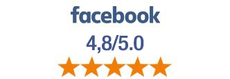 Évalué 4,7 sur 5 sur Facebook