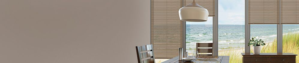 Aluminum / Mini Blinds are durable and affordable, while offering a sleek look in a wide selection of colours.