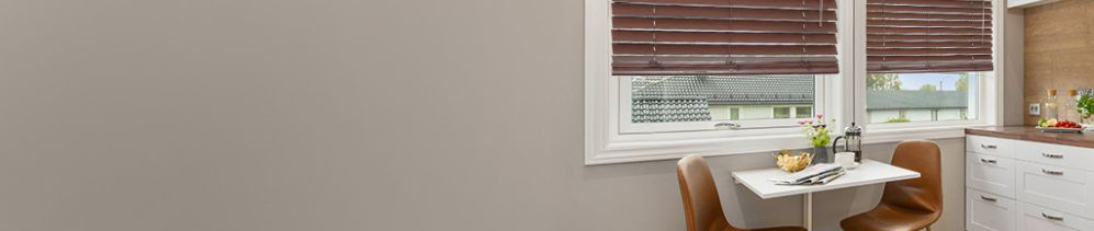 Choose Wood Blinds for a classic style which adds elegance to any room in the home.